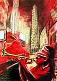 Trumpeter — Stock Photo