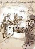Operation Barbarossa — Stock Vector