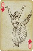 Indian beauty dancing — Stock Vector