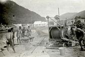 Crew - iş karayolu veya demiryolu i̇nşaat — Stok fotoğraf
