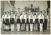 Classmates - pioneers — Stock Photo