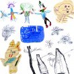 Children's scribbles — Stock Photo
