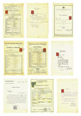 Documents and certificates — Stock Photo
