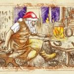 Постер, плакат: Santa Claus Blacksmith