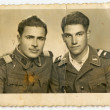 Unknown young soldiers — Stock Photo