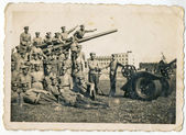 Group of soldiers posing — Stock Photo