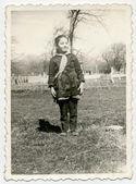 A criança, uma menina — Fotografia Stock