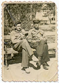 Men in uniform — Stock Photo
