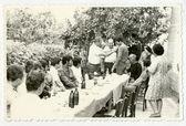 Wedding celebration with villagers — Stock Photo