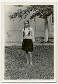 Teen Girl with braids — Stock Photo