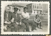 Men visited the small town — Stok fotoğraf