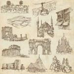 Постер, плакат: Architecture Famous Buildings no 10