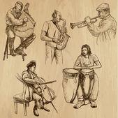 Musicians no. 3 — Stock Vector