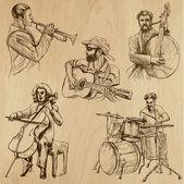 Musicians no. 4 — Stock Vector