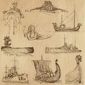 Ships and Boats no. 2 — Stock Vector