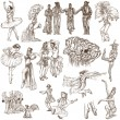 Dancing - An hand drawn full sized illustrations - Collection — Stock Photo #47231109