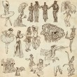 Dancing - An hand drawn full sized illustrations - Collection — Stock Photo #47231161