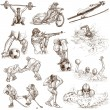 Sport - Collection of an Hand Drawn Illustrations — Stock Photo #47231165