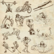 Sport - Collection of an Hand Drawn Illustrations — Stock Photo #47231179