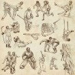 Sport - Collection of an Hand Drawn Illustrations — Stock Photo #47231181