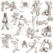 Sport - Collection of an Hand Drawn Illustrations — Stock Photo #47231187