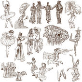 Dancing - An hand drawn full sized illustrations - Collection — Stock Photo