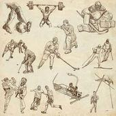 Sport - collezione di un illustrazioni disegnati a mano — Foto Stock