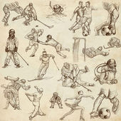 Sport - Collection of an Hand Drawn Illustrations — Stock Photo