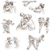 Sport nr. 8 - sammlung von einem handgezeichneten illustrationen — Stockfoto