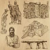 Náboženské č.6 - vektor pack, ruční kresby — Stock vektor