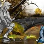 Fisherman (digital painting) — Stock Photo #48810071