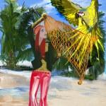 Huntress parrots (digital painting) — Stock Photo #48810115