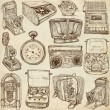 Old objects - full sized hand drawn collection — Stock Photo #48956639