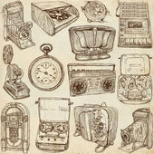 Old objects - full sized hand drawn collection — Photo
