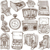 Old objects - full sized hand drawn collection — Foto de Stock