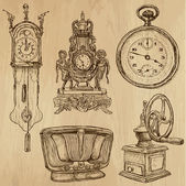 Old objects no.5 - hand drawn collection — Vetorial Stock