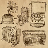 Old objects no.4 - hand drawn collection — Vettoriale Stock