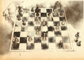 The World's Great Chess Games: Anderssen - Kieseritzky — Stock Photo