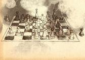 The World's Great Chess Games: Byrne - Fischer — Stock Photo