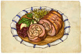 From the series food: Roulade — Stock Photo