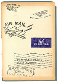 Several stamps of old air mail (Orignal - no scans - hand drawn) — Stock Photo