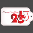 Royalty-Free Stock Vector Image: New Year 2013 date label, eps10