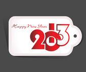 Nowy rok 2013 Data etykieta, eps10 — Wektor stockowy