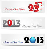 New year website header and banner set. — Stock Vector