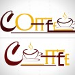 coffee cafe icon logo and business cards. illustration. — Stock Vector