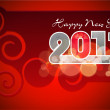 Happy New Year greeting card 2013 . — Stockvektor  #16871365