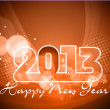 Happy New Year greeting card 2013 . — Stock Vector #16871377