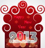 幸せな新年のグリーティング カード 2013年。eps 10. — ストックベクタ