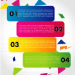 Vector One, Two, Three, Four progress labels — Stock Vector #16884735