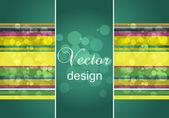 Abstraktní vektorová ilustrace flayer designu, eps10 — Stock vektor
